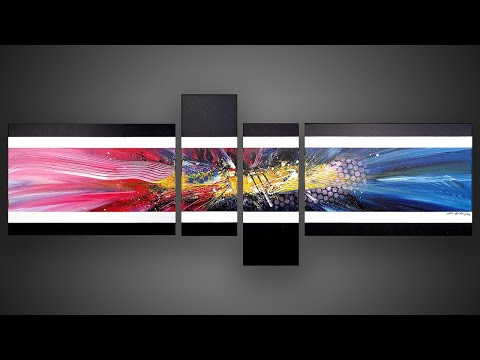 Abstract Painting Demonstration Colorful Satisfying | Olius