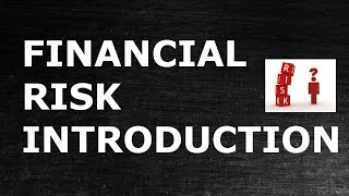 Financial Risk | Introduction Financial Risk Analytics width=