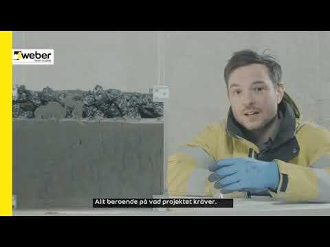 weber prepakt injekt  - ny betongprodukt för injekteringsgjutning