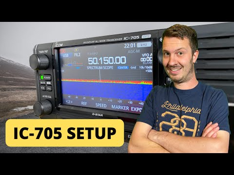 Icom IC-705 Basic Setup and Overview
