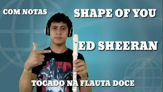 SHAPE OF YOU -  ED SHEERAN - TOCADO NA FLAUTA DOCE (COM NOTAS)