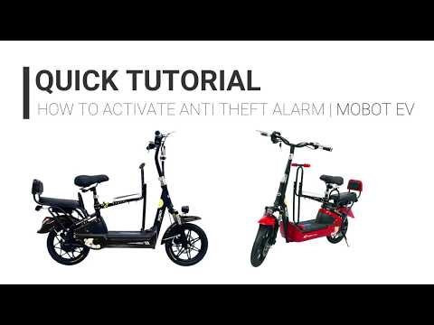 How to activate MOBOT EV UL2272 family e-scooter anti theft alarm | Quick tutorial