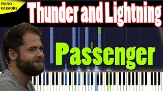 PASSENGER - THUNDER AND LIGHTNING - PIANO TUTORIAL - Karaoke 4U #7