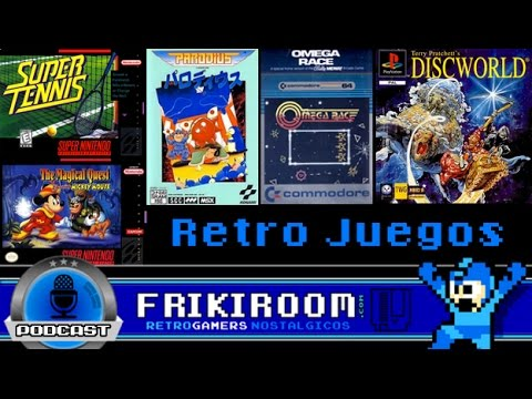 Retro Juegos - Super Tennis, Parodius, Omega Race, The Magical Quest y DiscWorld