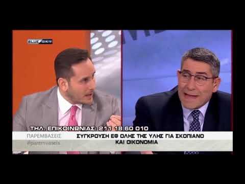 Μάριος Γεωργιάδης στο Blue Sky (με τον 'Ακη Παυλόπουλο, 12-12-2018)