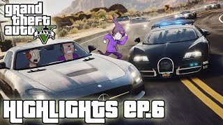 RUNNING FROM COPS - GTA V Highlights | Ep.6 w/MrRayHonda & Muyskerm