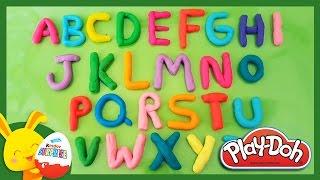 Apprendre l'alphabet avec la pâte à modeler Play-Doh - Titounis