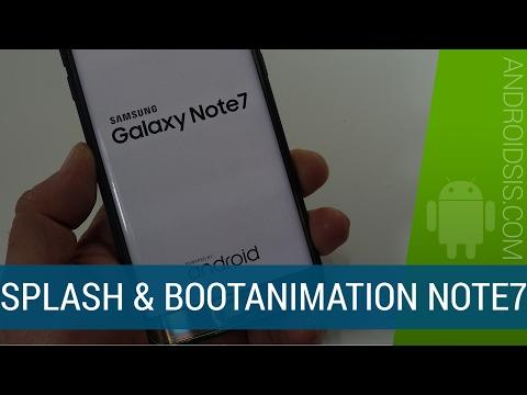 [TUTORIAL] Splash Screen, Bootanimation y Shutdown Animation del Samsung Galaxy Note 7
