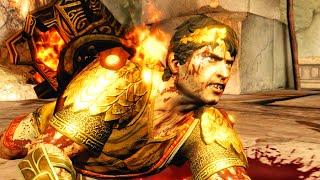 God of War 3 Remastered Helios Kills Kratos with Sun Light HD 60FPS 1080p
