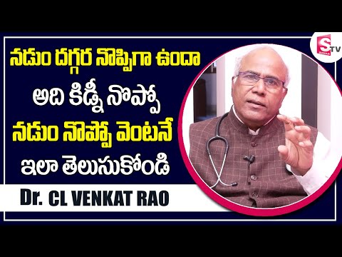 Dr CL Venkat Rao | Easy to Identify Back Pain or Kidney Pain
