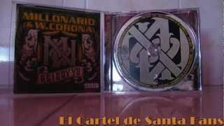 cartel de santa Cash Millonario y  w.Corona -  Mas Flow
