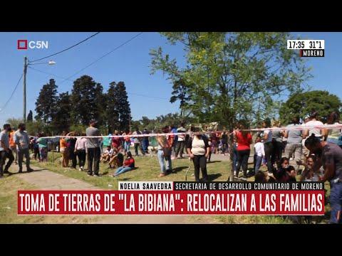 """Relocalizan a las familias tras la oma de tierras de """"La Bibiana"""""""