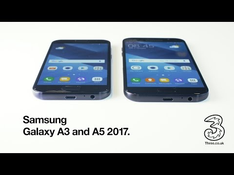 Samsung Galaxy A3 and A5 2017 on Three. [4K]
