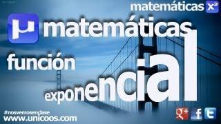 Imagen en miniatura para Estudio completo de una funcion exponencial