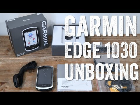 GARMIN EDGE 1030 UNBOXING! EXTERNAL BATTERY TOO!