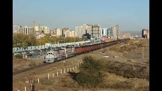 EMN074880 Mongolia freight train Güterzug godstog tåg tavarajuna tovorni teretni nákladní vlak vonat