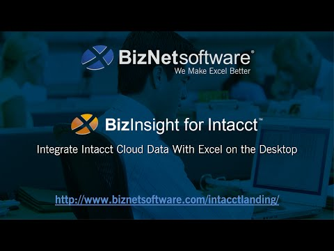 The BizInsight Excel Suite for Intacct