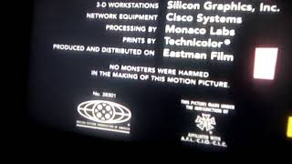 Monsters Inc end credits