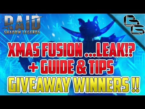 RAID: Shadow Legends | XMAS Fusion Guide & Tips +... LEAK? | Giveaway Winners 3x540 GEMS !!!