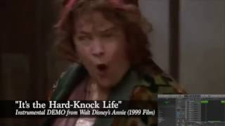 "Disney Annie (1999) Instrumental DEMO ""It's the Hard-Knock Life"""