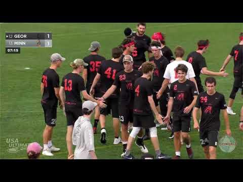 Video Thumbnail: 2019 College Championships, Men's Pool Play: Minnesota vs. Georgia