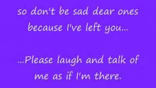 Rainbows End Lyrics - Daniel O'Donnell (in memory of Elsie Lamb)