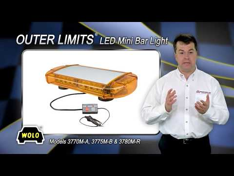 WOLO Outer Limits Mini LED Lightbar - Red, 24 LEDs, 16 1/2in.L, Model# 3780M-R