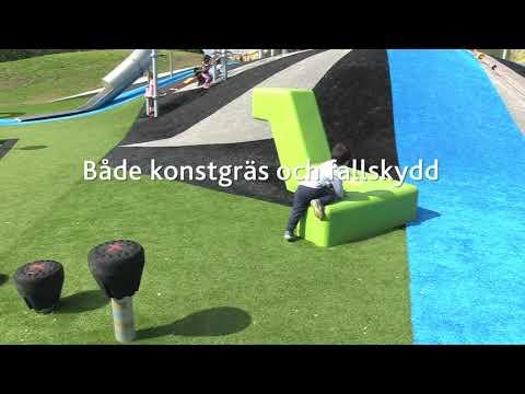 Gamlegårdens aktivitetsområde - Unisport konstgräs fallskydd