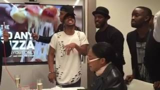 Algee Smith Luke James Elijah Kelly New Edition cast singing can you stand the rain