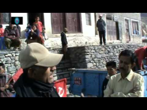 Talks with a Leader regarding the ongoing 'Bandh' in Nepal at Jomsom