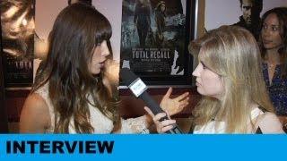 Total Recall 2012 - Jessica Biel Interview : Beyond The Trailer
