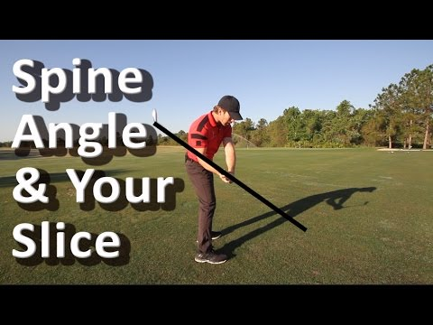 Golf Spine Angle - Cure Your Golf Slice - 60 Sec. Golf Tips by RotarySwing.com