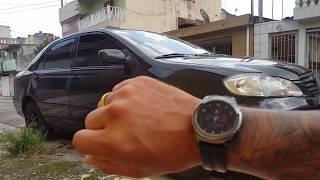 Alarme do carro no relógio gear s2