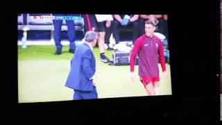 Cristiano Ronaldo coaching with Fernando Santos EURO 2016 FINAL PORTUGAL FRANCE 1 0 1