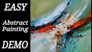 EASY Acrylic abstract painting DEMO / HOW to paint Abstract / NEW