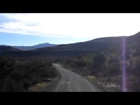 Driving to Winterhoek, South Africa