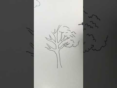 How to draw a tree - easy tutorial! #shorts