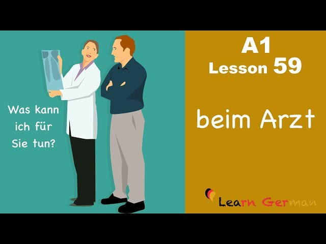 Learn German | A1 - Lesson 59 | Beim Arzt | At the Doctor's | Arzttermin vereinbaren