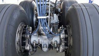 Main Landing Gear of Boeing 777-300/ER - close-up shots -