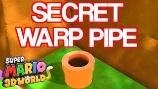 SECRET WORLD WARP PIPE #2!!!! Super Mario 3D World Cheat