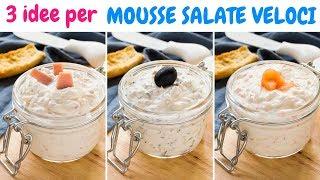 3 Idee per Mousse Salate Facili e Veloci - Al prosciutto - Alle Olive - Al Salmone | 55Winston55