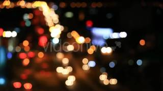 Light Car Bokeh Moving On The Road - Stock Footage | VideoHive 13927520