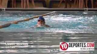 Lizeth Montes competencia de natacion en el parque Gill de Chicago
