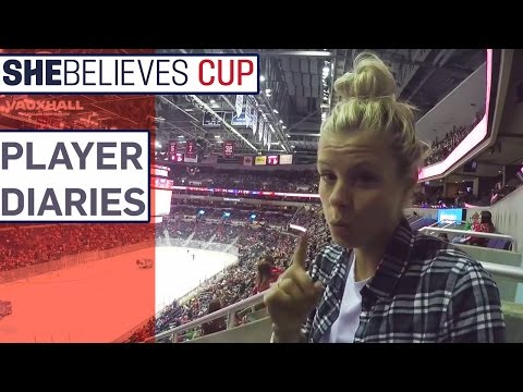Rachel Daly behind the scenes at SheBelieves Cup   Player Diaries