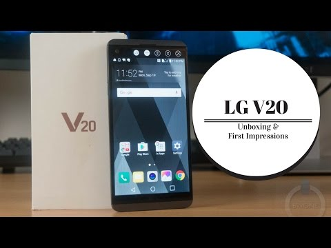 LG V20 Unboxing & First Impressions