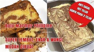 PHILIPINE MARBLE LOAF CAKE (ANTI GAGAL,IRIT TELUR, LEMBUT DAN ENAK)