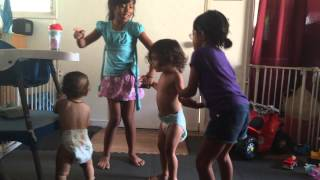 Watch me watch me Aj and Maile dancing with Kristi and Re Re
