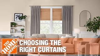 A video showing how to choose the right curtains for your home.