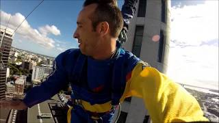 Steve is jumping - Skyjump from skytower in Auckland