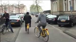 Lionel Richie on the bike in Amsterdam